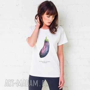 hand-made koszulki eggplant oversize t-shirt