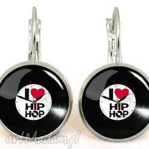 i love hip-hop - małe kolczyki wiszące egginegg, płyta, muzyka
