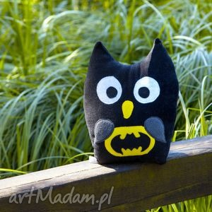 sowa batman - poduszka, zabawka, przytulanka