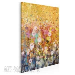 obraz na płótnie - ogród kwiaty abstrakcja w pionie 50x70 cm 62103