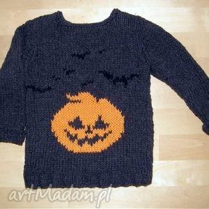 bawełniany sweterek z dynią i nietoperzami, sweter, sweterek, dziecko, bawełna