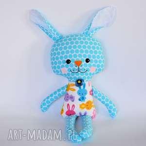 Królik Tuptuś - Marzenka, królik, dziewczynka, maskotka, kolorowa, zając, wielkanoc