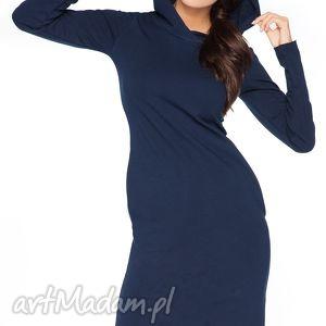 Sukienka A_3 z kapturem - RaWeaR, sportowa, dresowa, wygodna, surowa, kaptur