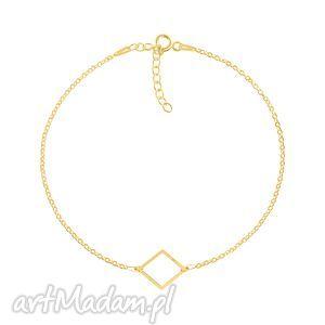 geometry - romb - bransoleta g - złote bransoletki, pozłacane