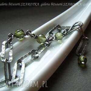 Z oliwką bransoletka cyrkonii i srebra szarotka cyrkonia, srebro