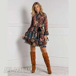 pod choinkę prezenty, sukienka alia mini julita, mini, wzorzysta