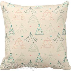 Poszewka na poduszkę dziecięca kolorowy wigwam tipi 3021, poduszka, wigwam, kolorowa