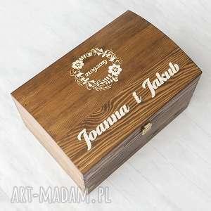 albumy kufer na koperty z wiankiem, drewno, pudełko, koperty, kufer, skrzynia