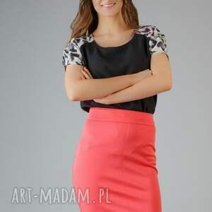 bluzki bluzka roma 1, panterka, wstawka, bufka, modna, wygodna, elegancka, pod