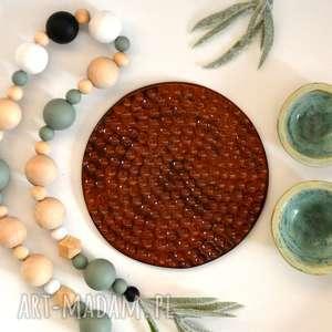 Podstawka ceramiczna, podstawka, miód, pszczoła, ul, plaster