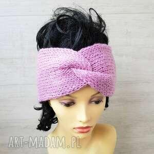 ręcznie robione opaski opaska turban pink pastel