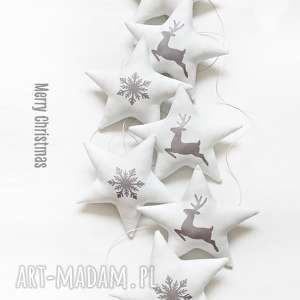 christmas - świąteczna girlanda, gwiazdka, gwiazdki, święta, renifer