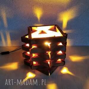 lampa drewniana, lampka z drewna /2/, lampa, lampka