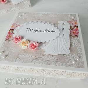pod choinkę prezent, kartka w pudełku, ślub, pudełko, personalizacja