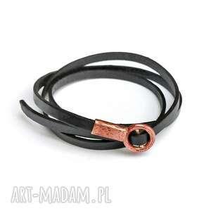 ręcznie zrobione bransoleta z rzemienia i miedzi