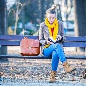 na ramię stój katarzyno karmelowa, skóra, naturalna, piękna, pojemna, elegancka