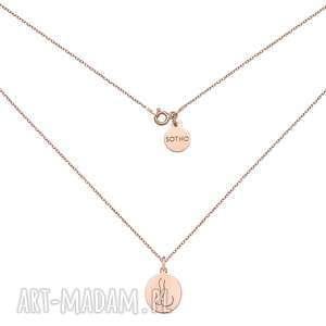 medalion z różowego złota body n°2 - pozłacany