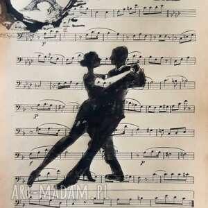 tango akwarela na papierze nutowym artystki adriany laube - miłość, zakochani