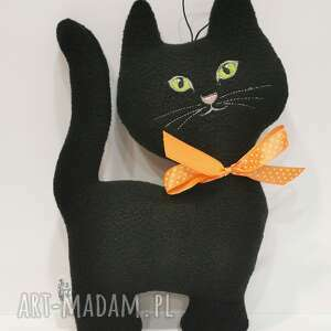 czarny kot na szczęście, kot, przytulanka, z polaru, prezent