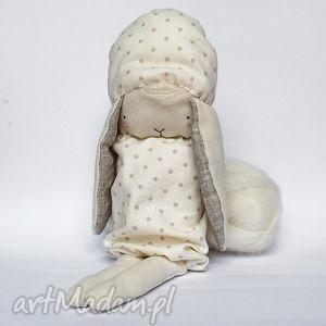 organiczna lala, króliczka bianca, zabawka, organiczna, króliczek lalki