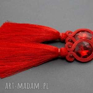 klipsy sutasz z chwostem, sznurek, eleganckie, wiszące, wieczorowe, długie