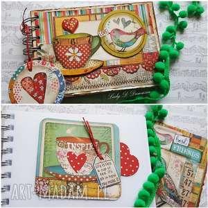 hand-made scrapbooking notesy pamiętnik/szkicownik/best friends