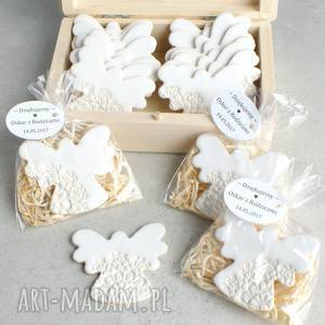 zestaw 11 aniołków - podziękowania dla gości, magnes, upominki, komunia, chrzest