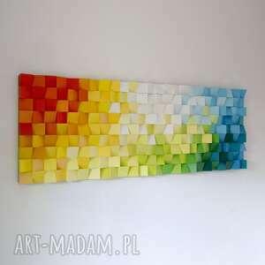 mozaika drewniana, obraz drewniany 3d dyfuzja_5, loft, modern, kolor