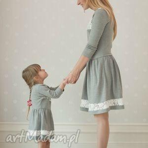 sukienka bella - dziecięca - dladziewczynki, świąteczna, koronka, dzianina