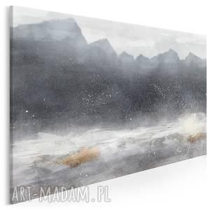obraz na płótnie - gÓry abstrakcja zima nowoczesny 120x80 cm 93601, góry