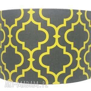 Abażur fresh yellow-grey 40x40x25cm od majunto dom koniczyna