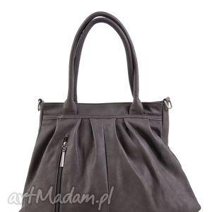 torebka damska na ramię z odpinanym paskiem paris 4-11-09 grey, codzienna