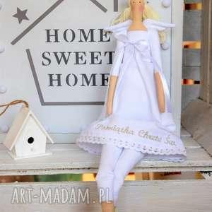 handmade lalki anioł pamiątka chrztu świętego