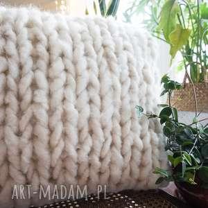 Poduszka chunky white poduszki woolbyme poduszka, dekoracja domu