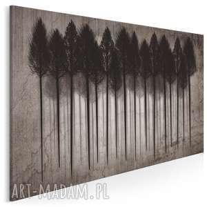 obraz na płótnie - las drzewa 120x80 cm 25701, drzewa, las, ciemny, wystrój