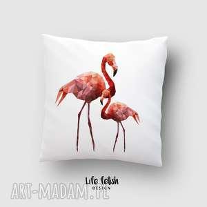 poszewka flamingi, poduszka, poszewka, flaming, dom, sypialnia