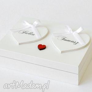 Pudełko na obrączki Romantyczne, pudełkonaobrączki, dekoracjeślubne, ozdoby, ślub