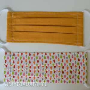 bawełniana maseczka wielorazowa jednowarstwowa zestaw 2 szt - maseczka