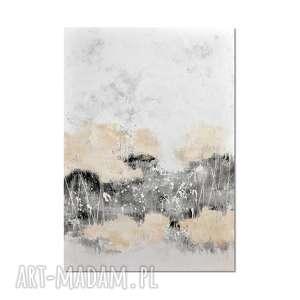 Aputi, abstrakcja, nowoczesny obraz ręcznie malowany, obraz, ręcznie, malowany