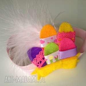 opaska niemowlęca - świąteczne pisanki, filc, ozdoba, prezent, roczek, sesja