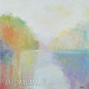 obraz olejny impresja format 40/40 cm, impresja, obraz, romantyczny, olej, pastelowy