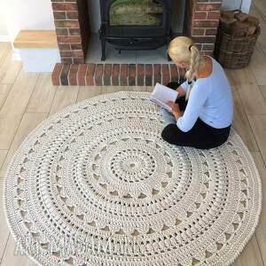 dywan scandic ręcznie dziergany ze sznurka bawełnianego, średnica: 180 cm, kolor