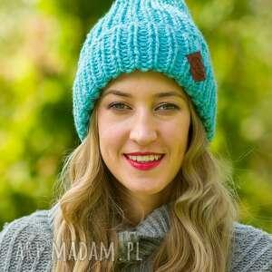 hand-made czapki lucky turkusowy szlachcic