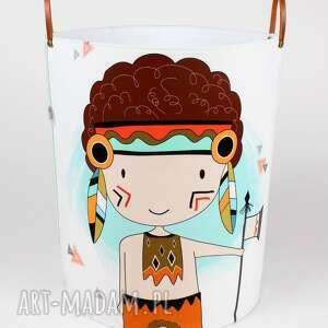 ręcznie wykonane pokoik dziecka ogromny pojemnik z indianinem