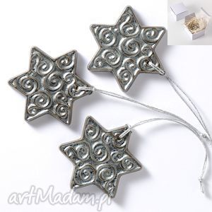 prezent święta gwiazdki srebrne zawieszki pudełko, gwiazdki, święta,