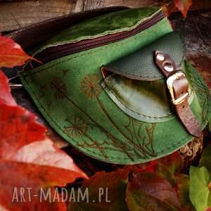 nerki skórzana nerka leśne licho dmuchawce od ręki, zielona nerka