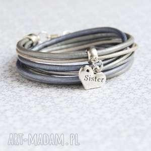 bransoletki dla siostry - pomysł na prezent steel silver, siostra, siostry