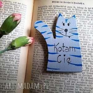 Magnes kot miłosny no1 magnesy pracownia na deskach kot, miłość