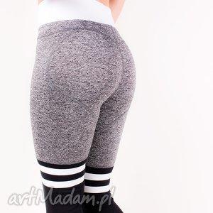 legginsy wyszczuplające elastyczne z paskami do ćwiczeń biegania xs/s