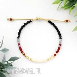 Bransoletka Minimal - Autumn Burgundy, bransoletka, minimalistyczna, delikatna